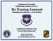 Air Training Command Service Certificate