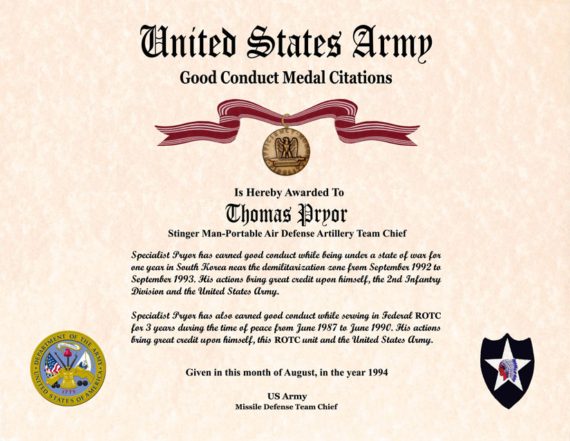 Individual Award Certificate Military Training Unit Awards – Army Certificate of Appreciation Template