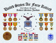 US Air Force Retired  Certificate of Service
