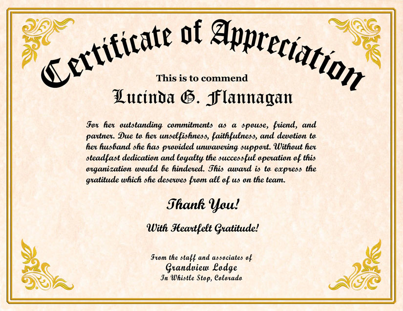 Military Veterans Appreciation Certificates – Certificate of Recognition Wordings