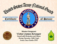 Army National Guard Certificate of Service