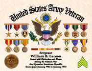 US Army Veteran Certificate of Service