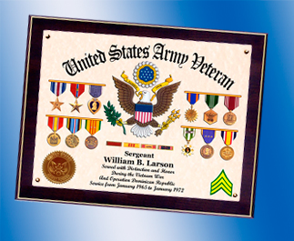 US Army Certificate with Awards