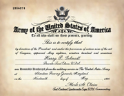 US Army WWI Honorable Discharge Certificate Replacement