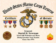 Marine Corps Certificate of Service