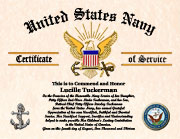Military Mother Certificate of Appreciation